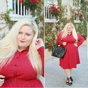Dresses & Skirts - Red button up shirt dress
